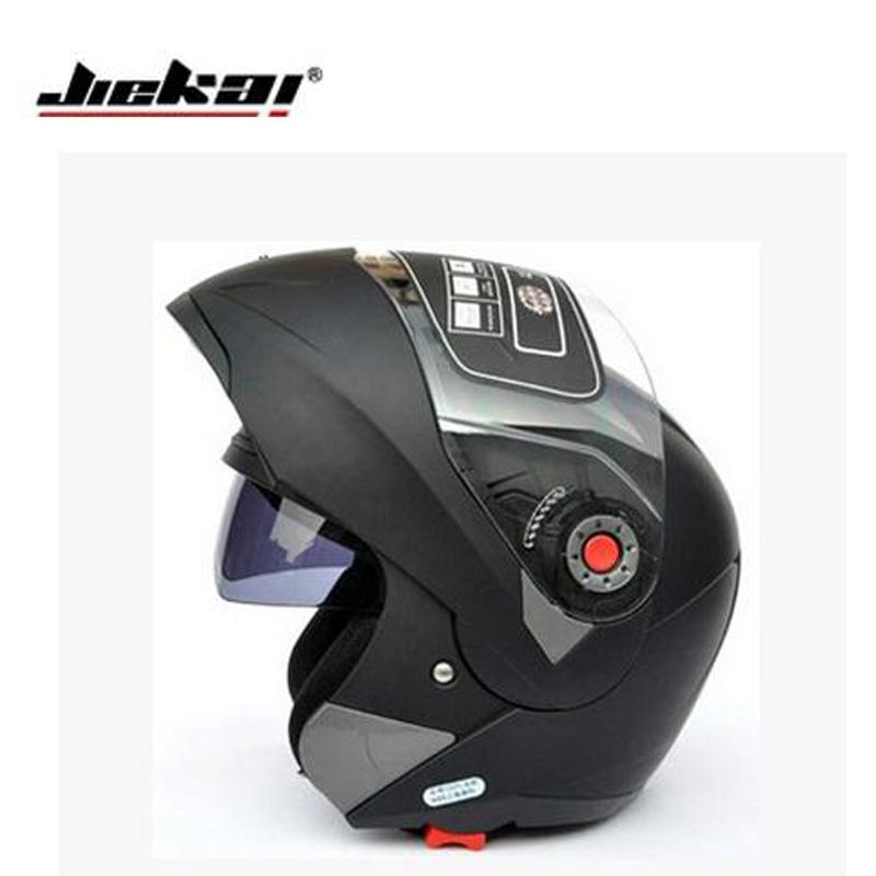 Prix pour Hotsale sécurité jiekai105 flip up casque de moto à double lentille avec pare-soleil interne casque intégral casco moto racing capacete