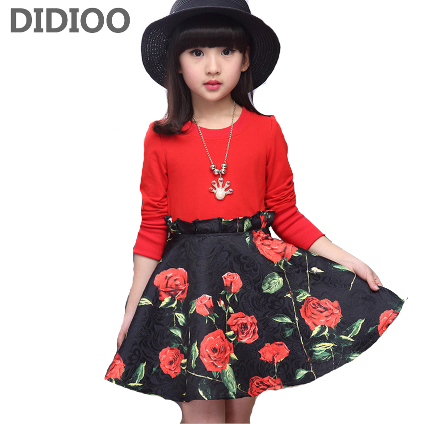 Child Floral Dresses for Girls Casual Dress Kids Formal ...