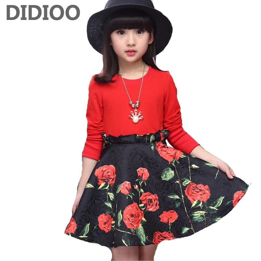Child Floral Dresses Girls Casual Dress Kids Formal