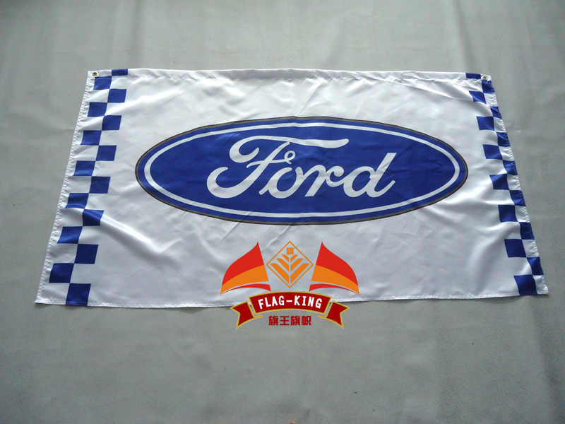 ford car racing flag,90*150CM polyester ford banner