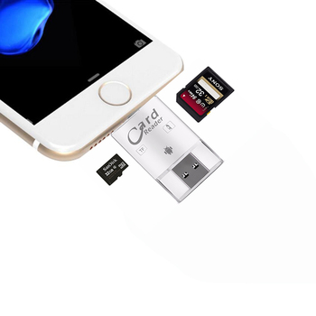 3 in 1 i Flash Drive USB Micro SD SDHC TF OTG Card Reader Adapter for iPhone 5 6 7 X XS XR for ipad/Samsung OTG Phones