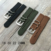 Special Offer 18MM 20MM 22MM 24MM Trendy Army Military Nylon Fabric Nato Strap Sports Canvas Wrist