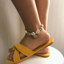 Two-tone Shells Anklet Chain National Wind Adjustable Shell Beach Anklet Fashion Bohemian Anklet Beach Style Jewelry цена