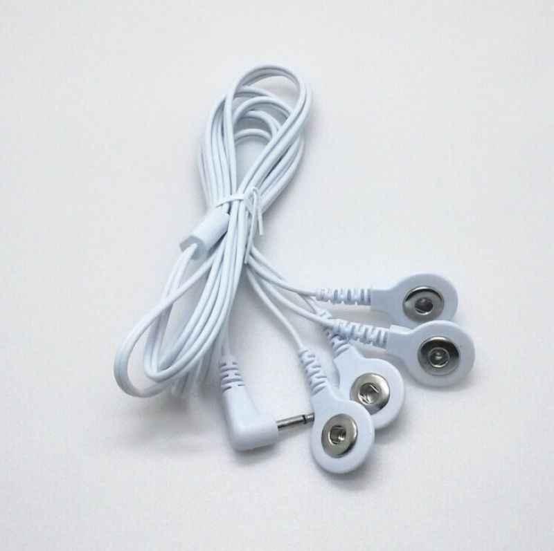 20ピース/ロットdc 2.5ミリメートル4で1ヘッド電極ワイヤ/ケーブル用デジタル治療マシン、十機、痩身マッサージ送料無料