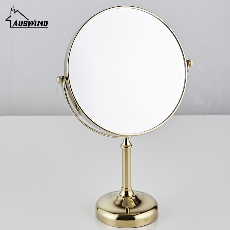 AUSWIND Antique Copper Arrival Makeup Mirror Professional Vanity Mirror Bathroom Accessories 360 Rotating Free Magnifier Sj14 декор lord vanity quinta mirabilia grigio 20x56