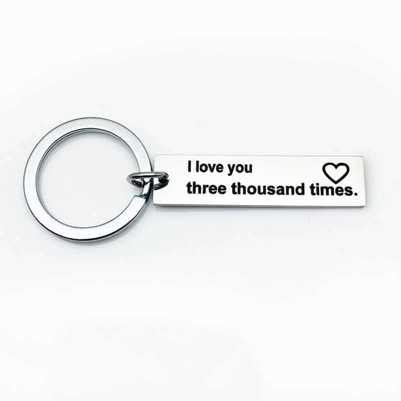 LLavero de pareja de acero inoxidable grabado te amo llavero regalo para mi novio marido