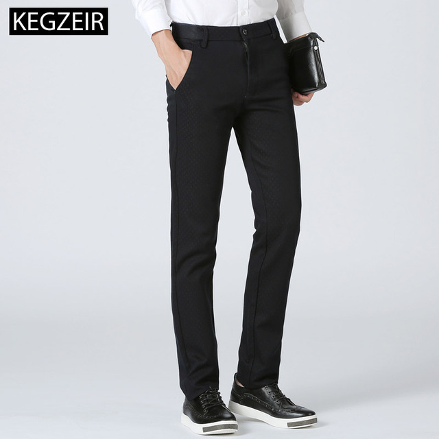KEGZEIR 2018 New New Design Winter Mens Fashion Pants Business Classic Casual Men Trousers Straight Slim Pants For Men