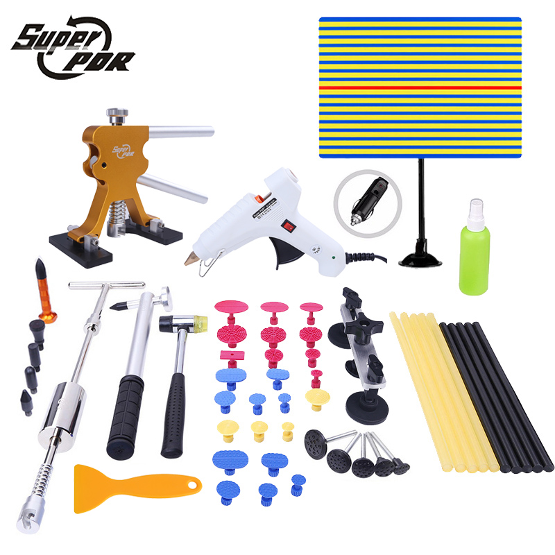 PDR Paintless Dent removal tools Auto car body restore tool Hail Damage Repair devices Sets glue gun pulling bridge slide hammerPDR Paintless Dent removal tools Auto car body restore tool Hail Damage Repair devices Sets glue gun pulling bridge slide hammer