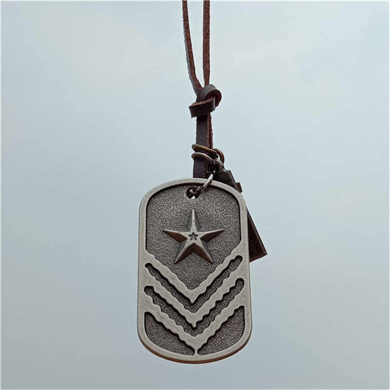2018 New unique Designer Mens Military Army Style 316L Stainless Steel Dog Tags Chain Mens Pendant Necklace Jewelry Accessories