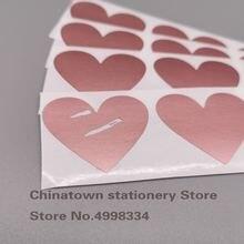 200 шт наклейки на царапины 30x35 мм форма сердца любовь rosd