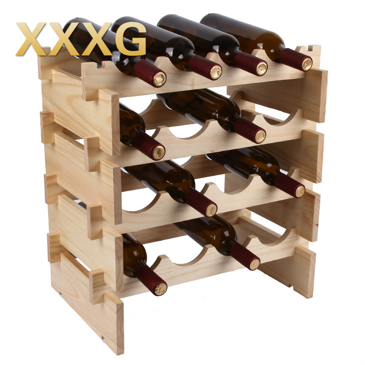 Xxxgdiy High Quality Classical Folding Wooden Red Wine Holder