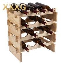 Xxxg//diy hochwertige klassische folding holz rotwein halter racks 3 flaschen wein stehen regal für küche bar ca1t