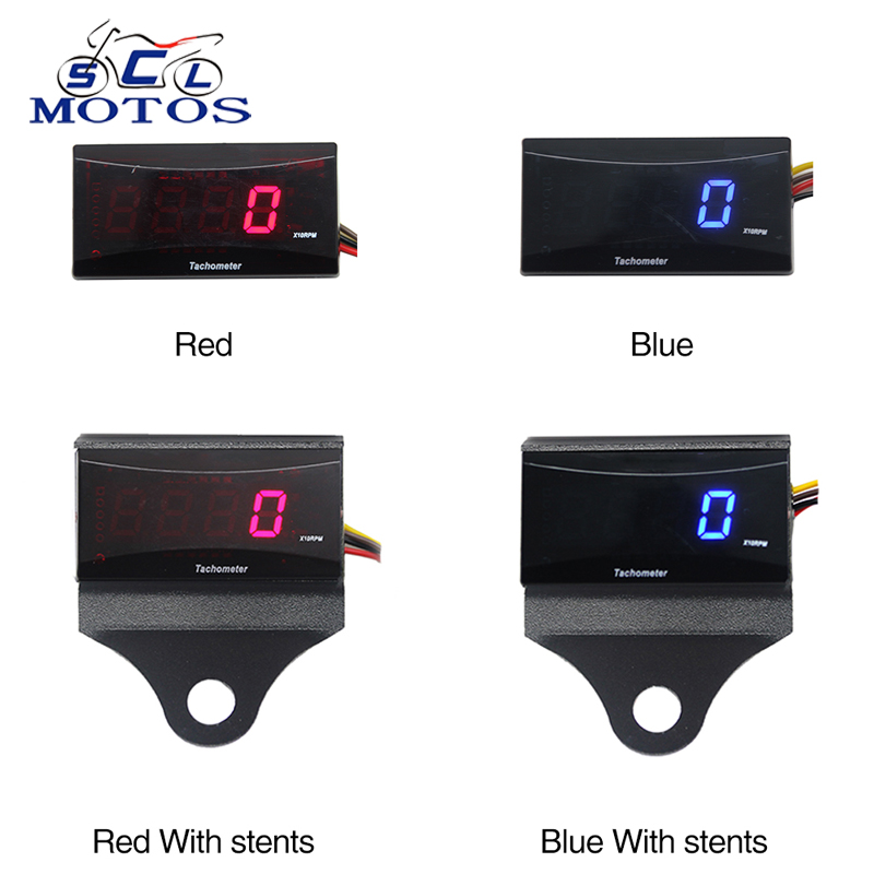 Sclmotos-Koso Tach Hour Meter Tachometer Gauge Koso Mini RPM Meter Digital Square LCD Display Engine for HONDA for KTM Racing
