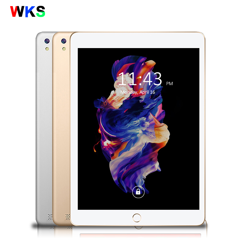 WKS 10.1 inch Tablet PC Android 6.0 Core 4GB RAM 32GB ROM 5MP WIFI GPS 3G WCDMA Phone Call Tablet 10 Phone Call Dual SIM Tablets