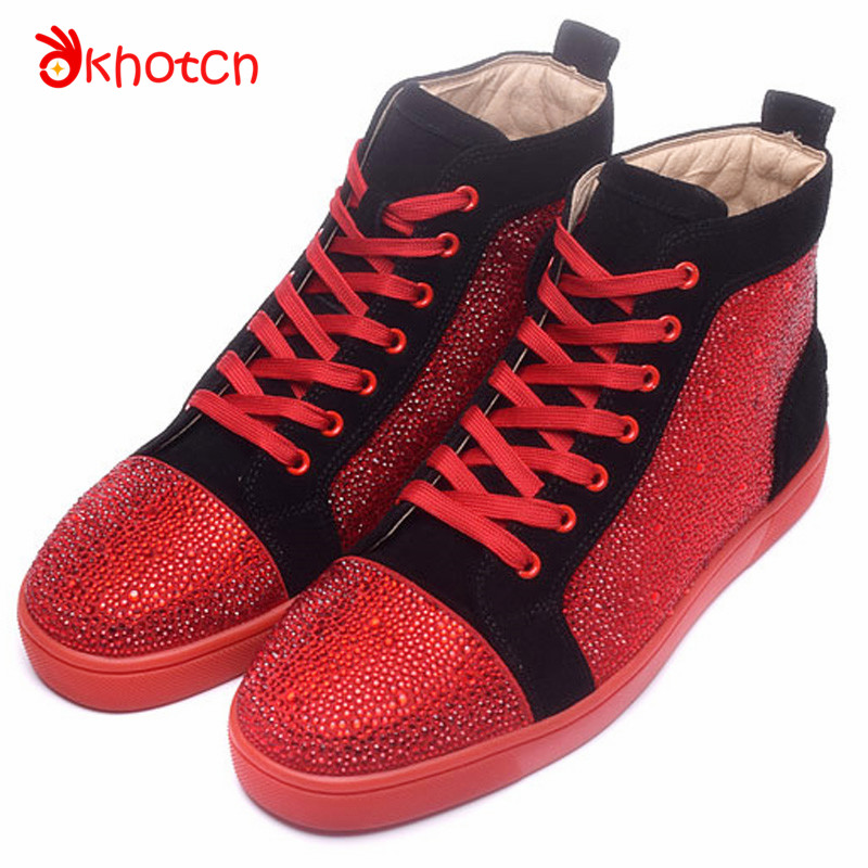 Patchwork Glitter Crystal Espadrilles Breathable Flats Zapatillas Deportivas Hombre Patent Leather Casual Round Toe Shoes Man leather casual shoes zapatillas hombre casual sapatos business shoes oxford flats hand made man shoe free shipping sv comfort