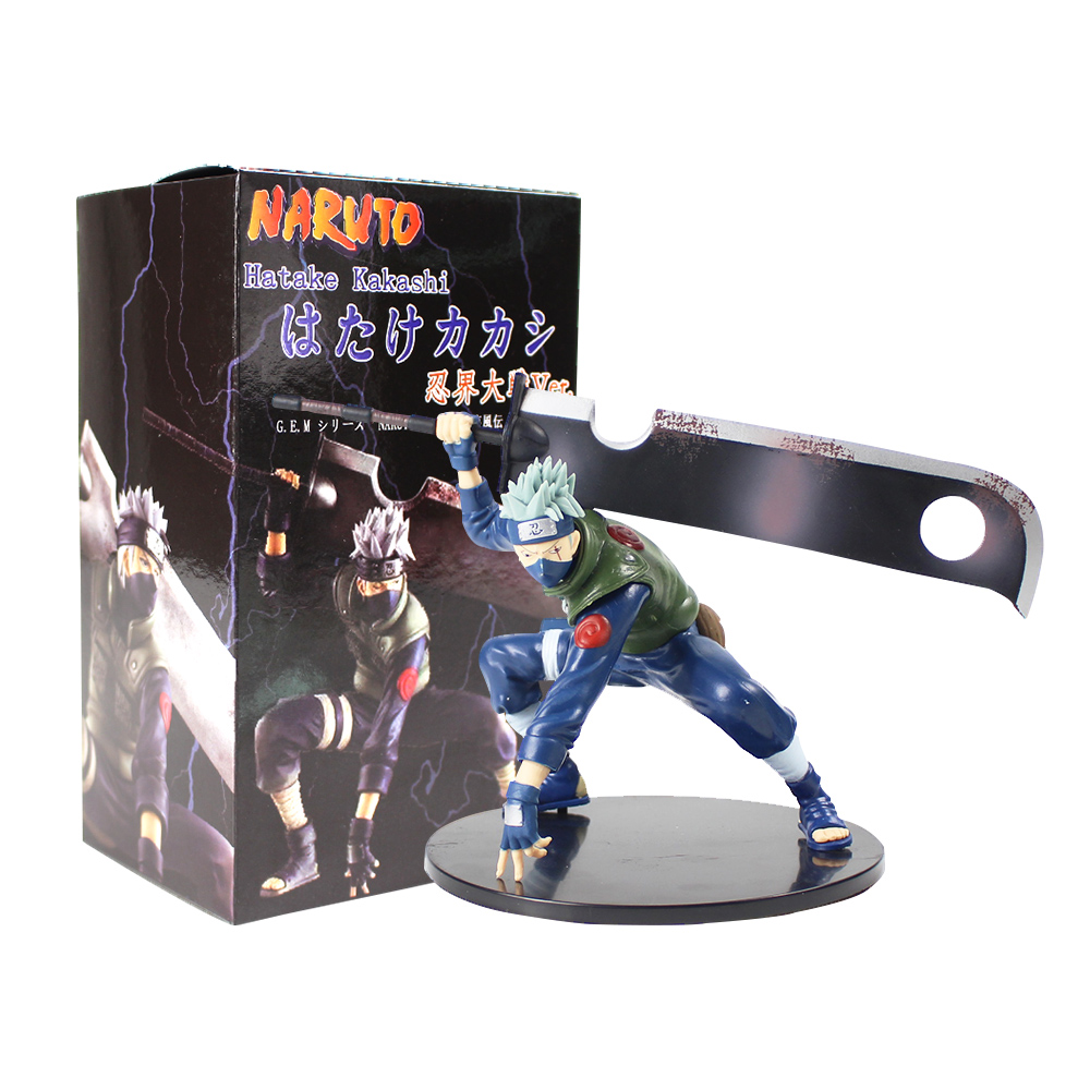 14cm Naruto Shippuuden Hatake Kakashi Shinobi World War With Sword Ver. PVC Action Figure Collectible Model Toy Figurine