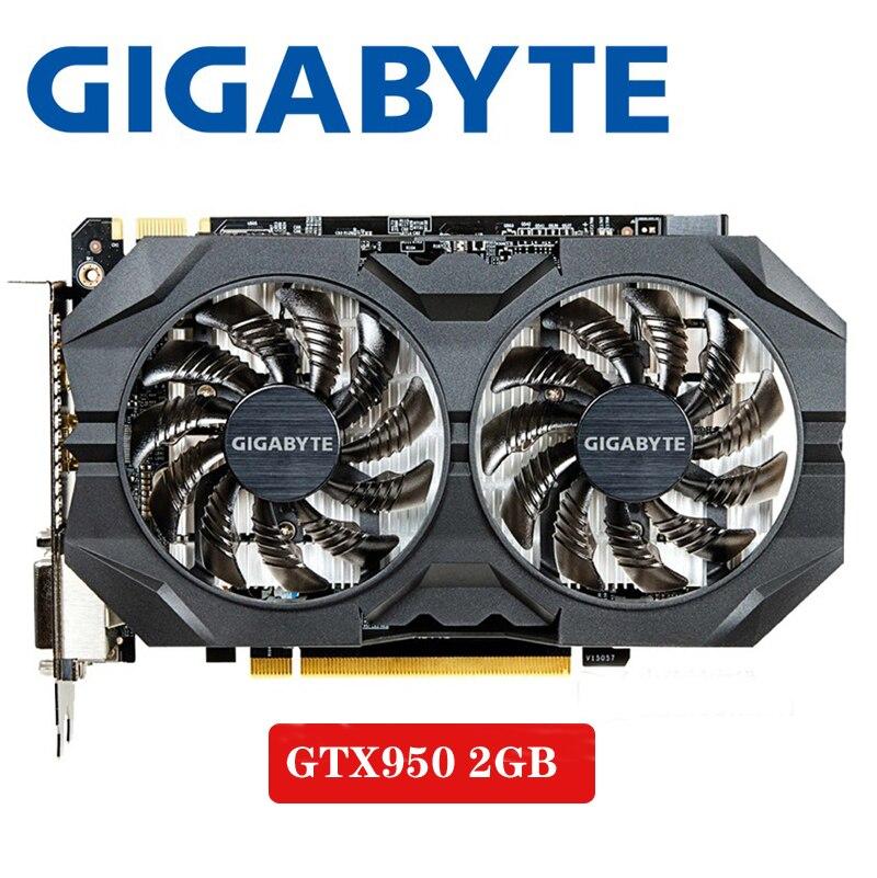 Gigabyte GTX-950-2GB GT950 GTX950 2G D5 DDR5 128 Bit NVIDIA PC Desktop Graphics Cards PCI Express 3.0 Computer  Graphics Cards
