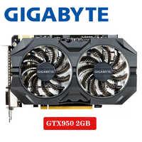 Gigabyte GTX-950-2GB GT950 GTX950 2G D5 DDR5 128 bits cartes graphiques nVIDIA pc de bureau PCI Express 3.0 cartes graphiques d'ordinateur