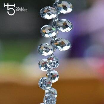 Cuentas de cristal tipo lágrima transparentes austriacas para hacer joyas, pendientes para mujer Diy perlas Briolette cuentas de vidrio facetadas al por mayor 002