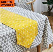 Modern Simple Yellow Table Runner Fashion Runners Cotton and Lien Cloth Home Textile