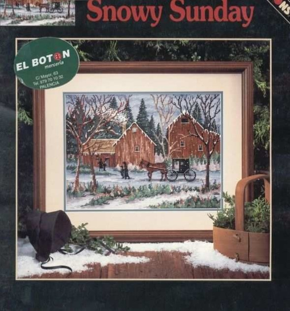 Free Delivery Top Quality Popular Counted Cross Stitch Kit Snow Sunday Horse Carriage Wagon Coach Dim 00263