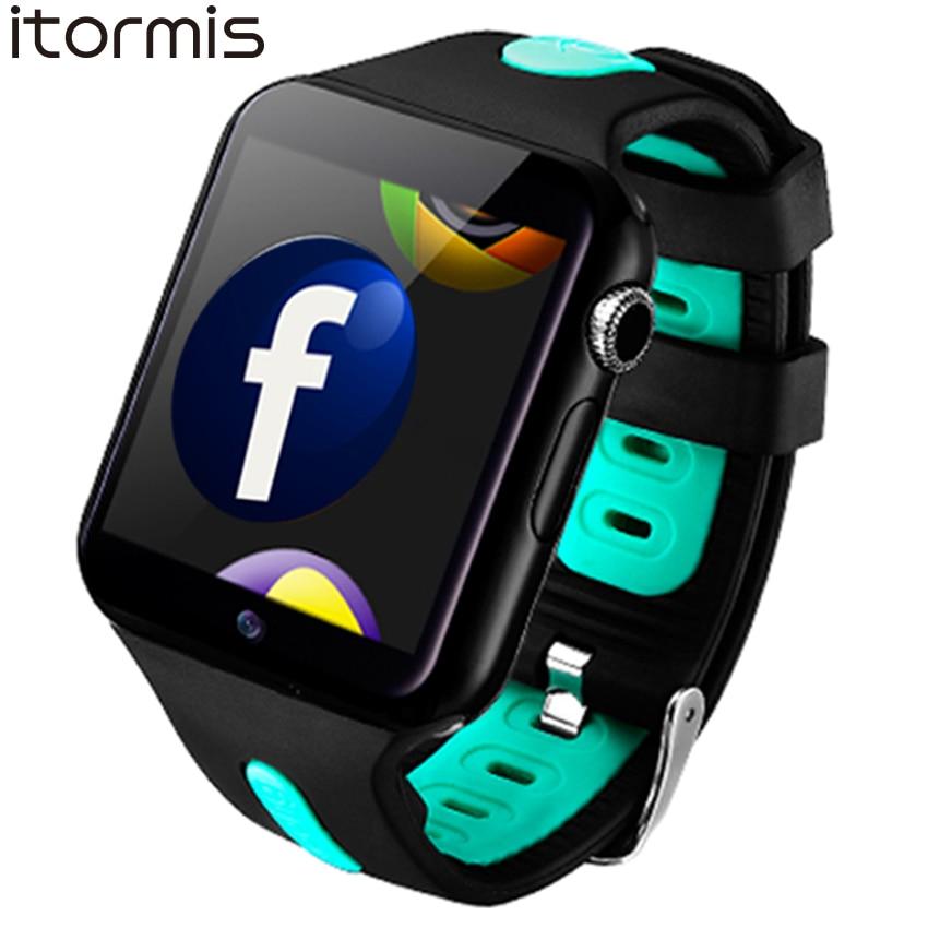 ITORMIS Bluetooth 3g Wifi Astuto Della Vigilanza del Android Rom 4g Orologio Da Polso Supporto Della Scheda Sim Whatsapp Facebook