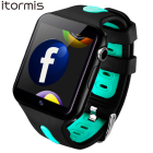 ITORMIS Bluetooth 3G Wifi Smart Watch Android Rom 4G GPS Position Wristwatch Support Sim Card Whatsapp Facebook