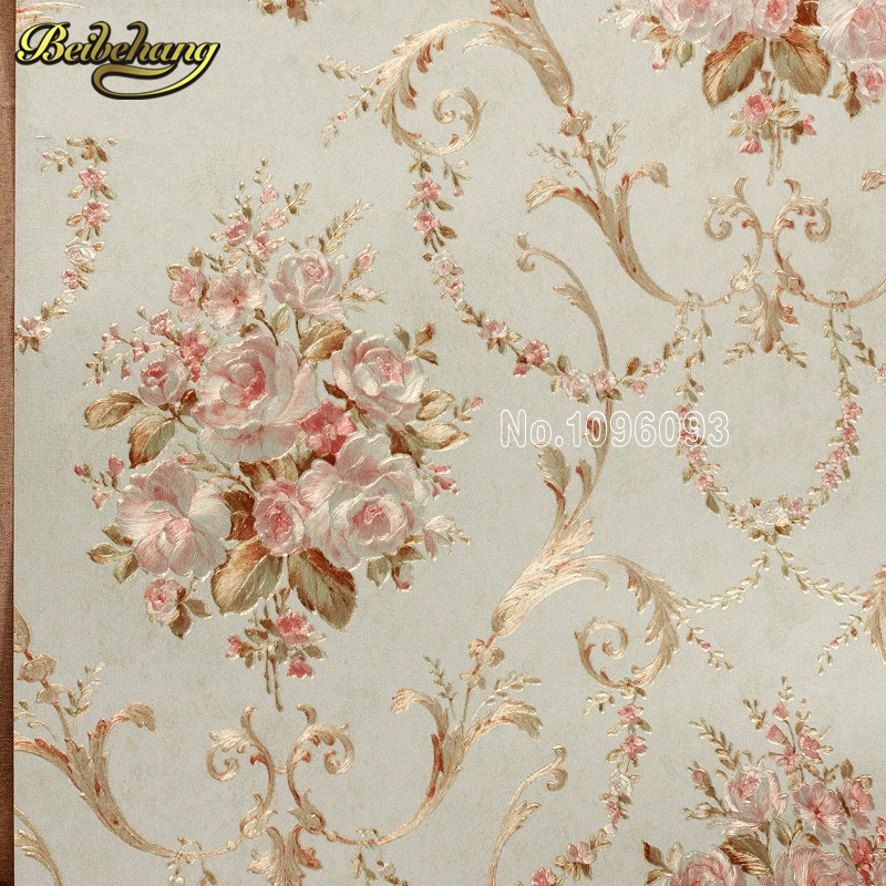 beibehang papel de parede. Italian flower metallic wallpaper embossed PVC background wall wallpaper for living room ceiling wall