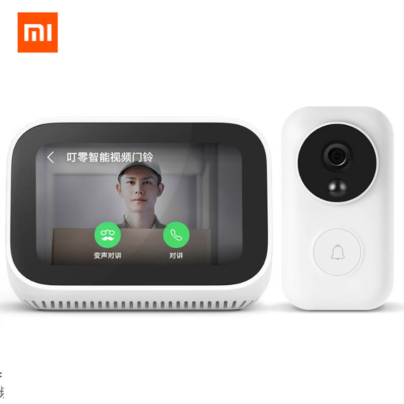 Original Xiao mi AI écran tactile Bluetooth 5.0 haut-parleur affichage numérique réveil WiFi connexion intelligente haut-parleur mi haut-parleur