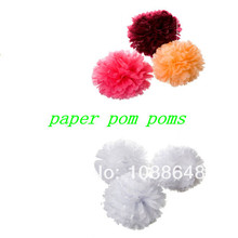 Free shipping 350pcs/lot 8inch(20cm) Tissue paper pom flower balls wedding table decoration baby shower gifts