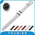 Faixa de relógio de couro genuíno com adaptadores para samsung gear s2 SM-R720/R730 Croco Grain Alça de Pulso Pulseira Marrom Preto branco