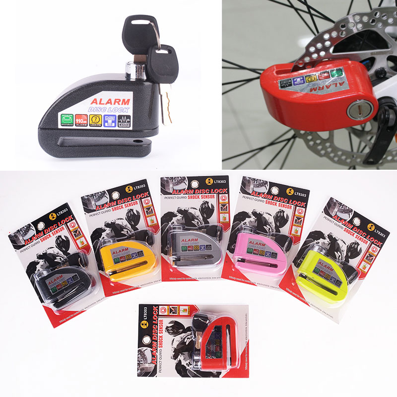 Security Protection Motorbike Motorcycle Anti Thief Electric Bike Scooter Wheel Disc Brake Alarm Lock Zinc Alloy Siren Lock