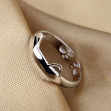 Open Adjustable Ring For Women Gift Party Fashion Bohemian Rings Charms Dragon Cat Ear Paw Footprint(China)