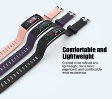 New Smart Wristband Bracelet with Heart Rate Blood Pressure  Pedometer multifunction smart band for Android IOS Fitnesstracker