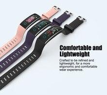 Nueva pulsera inteligente con ritmo cardíaco podómetro de presión arterial banda inteligente multifunción para Android IOS Fitnesstracker