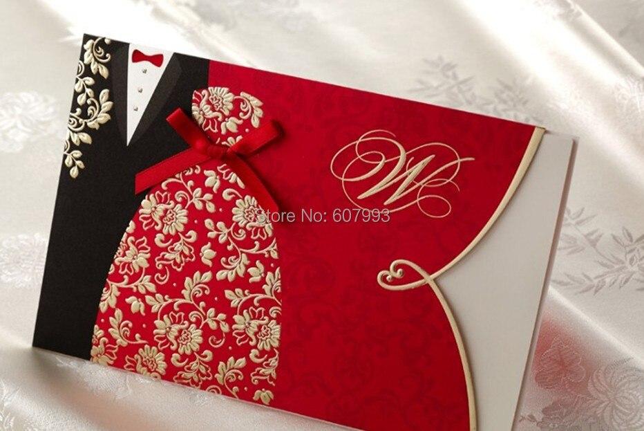 Buy Wedding Invitation Kits: Aliexpress.com : Buy Bronzing Bride And Groom Wedding