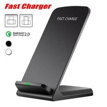 Alta calidad cargador inalámbrico Qi para iPhone X XS X Max XR 8 Samsung S9 S8 rápido de carga inalámbrica