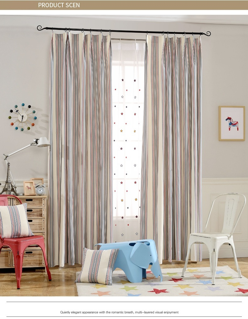 Fyfuyoufy Modern Simple Striped Curtain For Living Room