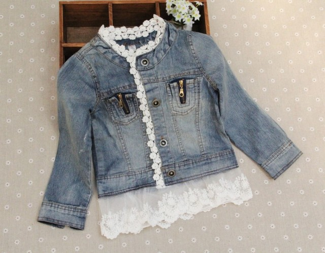 c58300fa5920 Spring Girls Denim jacket Children Kids Coat Brand Toddler Outerwear ...