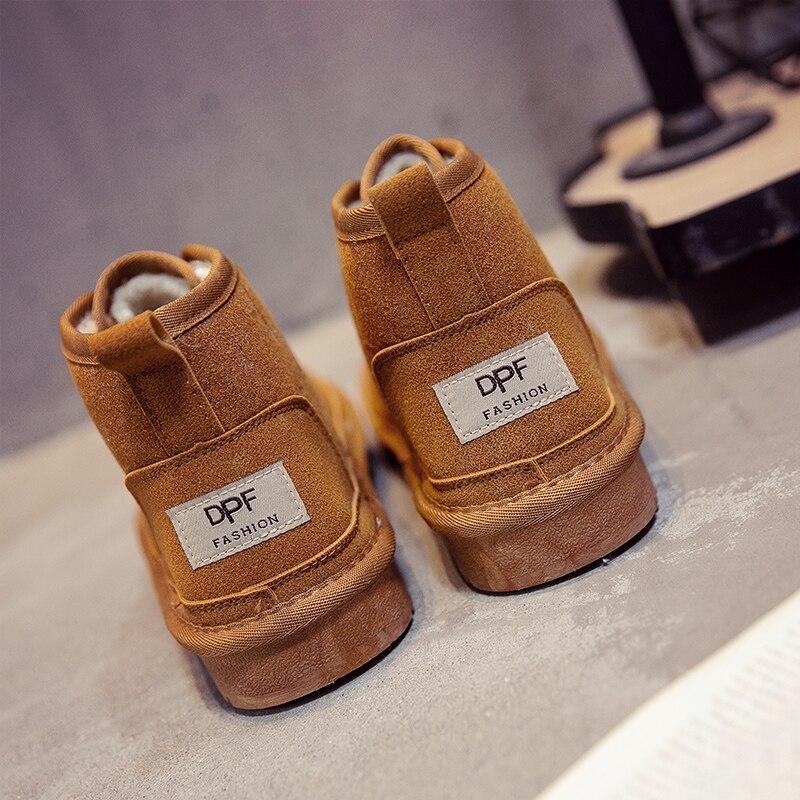 Jbllyy Marke 2018 NEUE Mode Winter Stil Weichen Mokassins Männer Wohnungen Schnee Stiefel Schuhe Männer Kurze Stiefel Hohe Qualität Knöchel stiefel