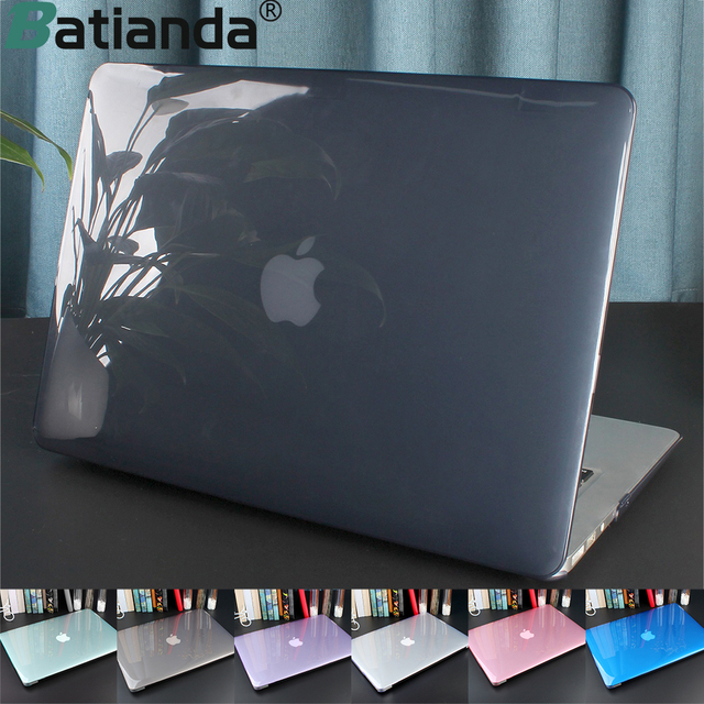 Batianda Crystal Laptop Bag Sleeve For Macbook Air 13 Case New 2018 Air 11 12 inch Hard Cover with TPU Keyboard Cover A1466