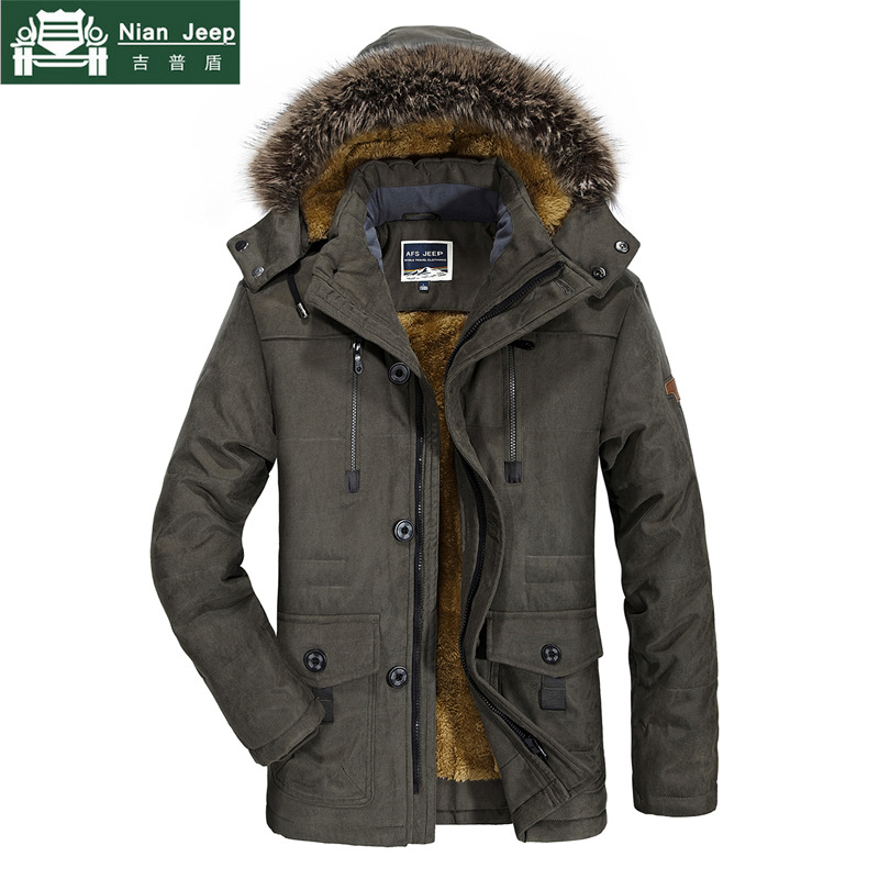 Plus Size 6XL 7XL Brand Winter Jacket Men Hooded Thick Warm Long Parka Male Fur Collar Cotton Outwear Windbreaker Mens Coats