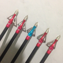 Free shipping 6pcs/lot 100grain 3 blades broadhead arrow tip  arrowhead for crossbow and compound bow hunting