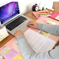 K KBOOK Cute Monthly Desk Calendar Kawaii Memo Pad Monthly Planner Agenda Organizer School Supplies 705