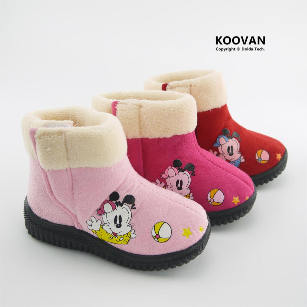 Koovan Children Boots 2019 New Style Child Girl Princess Warm Snow Boots Dog Medium Cotton-padded Shoes Kids Children Shoes