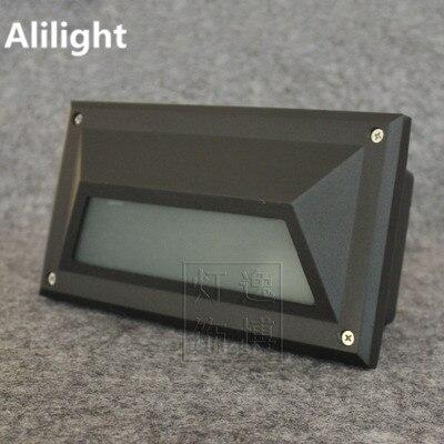Waterproof Garden Iluminacion Exterior Black/white Housing Recessed  Undergroud Lamps Floor Corner Light Indoor/
