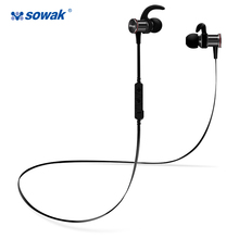 Sowak S12 Sports Earphones IPX4-rated Sweatproof Bluetooth Wireless Headset In-Ear Earphones Noise Cancelling for phone with mic
