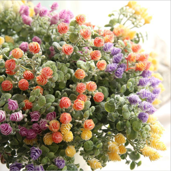 2018 artificial flowers garden wedding Decorations home decoration Artificial flowers small fresh Milan Bayberry with