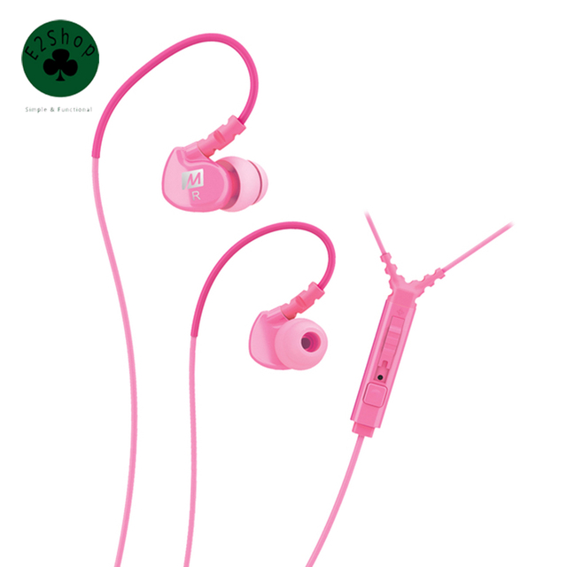 MEE Audio M6P Memory Wire In-Ear Earphone with Mic Remote & Volume Control Sport Running Gym Street Mobile Phone Headphone