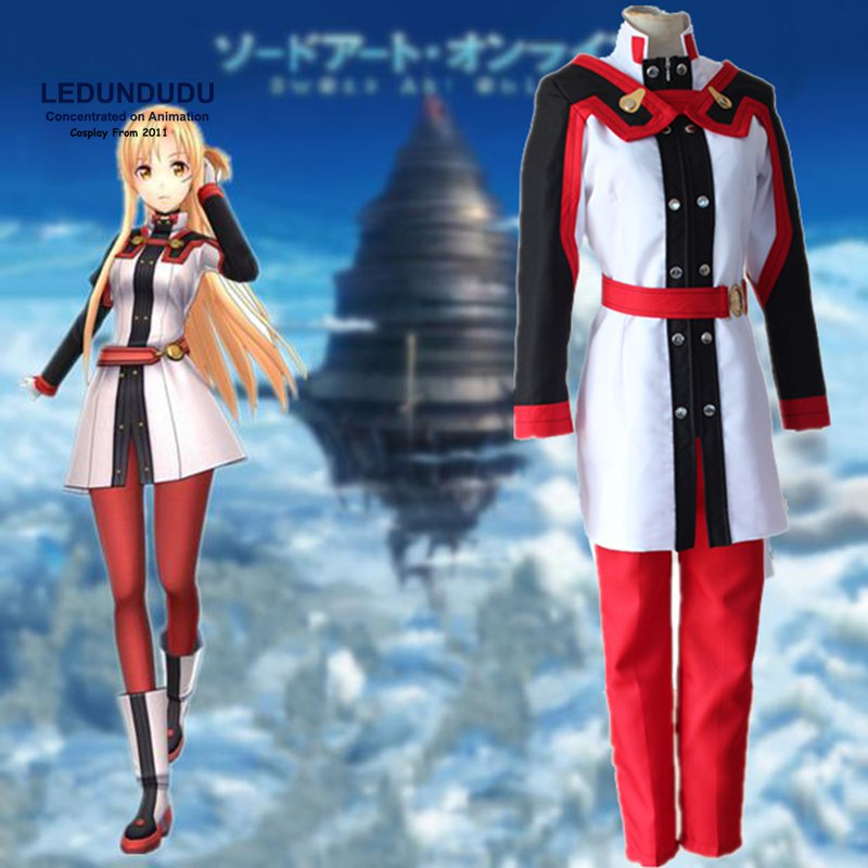 Sword Art Online Cosplay Costumes SAO Yuuki Asuna Anime Movie Ordinal Scale Uniform Fancy Party Outfit for Halloween